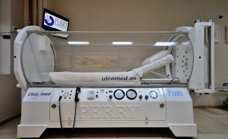 Centro de oxigenación en Madrid Clínica Ulcemed chequeo médico submarinismo
